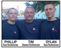 Tim Mills and sons