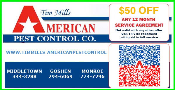 Coupon image showing Save_50_off_ Pest Control Service Agreements with American Pest Control